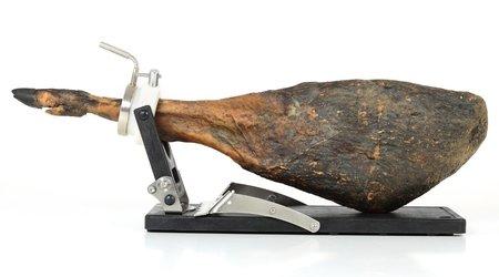 Porta prosciutto Jamotec JP Luxe con prosciutto sulla parte piegata